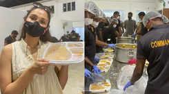 Andrea appreciates Guru Nanak Society and Commando Force of TN Police for food distribution drive