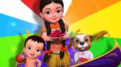 Telugu Kids Poem: Nursery Song in Telugu 'Rangu Rangulu Pillala Pata'