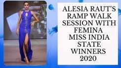 Take A Sneak Peek At The Virtual Rampwalk Session With Alesia Raut During VLCC Femina Miss India 2020!