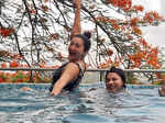 These glamorous pictures of Gauahar Khan enjoying pool time with bestie go viral