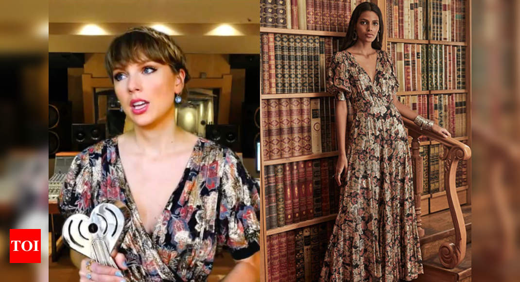 Taylor Swift wears Indian designers Hemant & Nandita for iHeartRadio Music Awards – Times of India