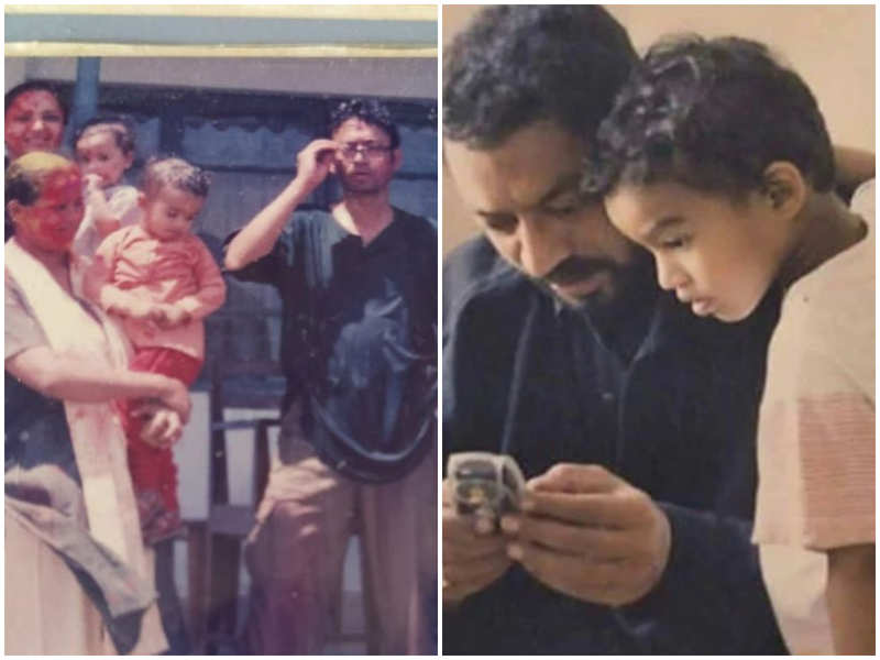 Babil Khan reminisces his 'best' Holi celebrations with THESE throwback pictures featuring  parents Irrfan Khan and Sutapa Sikdar