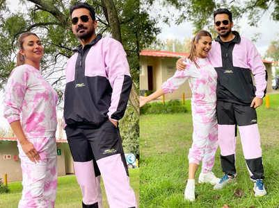 Divyanka and Abhinav twin in candy pink