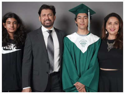 Madhuri shares son Arin's graduation pics
