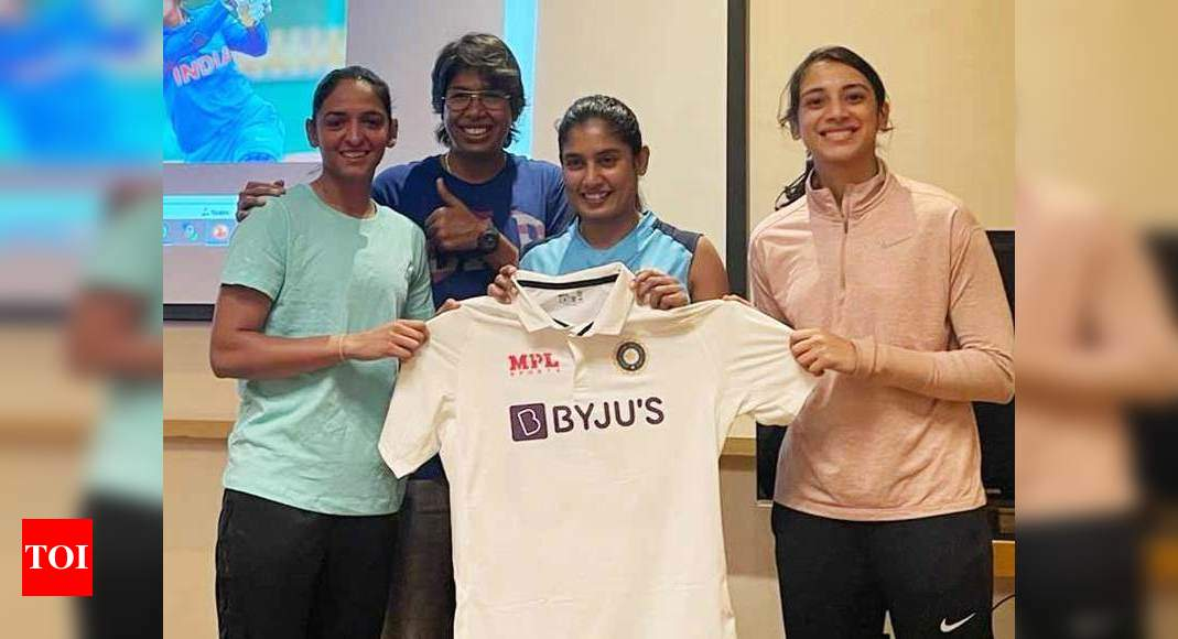 BCCI unveils Indian women team's new Test kit ahead of England tour | Cricket News – Times of India