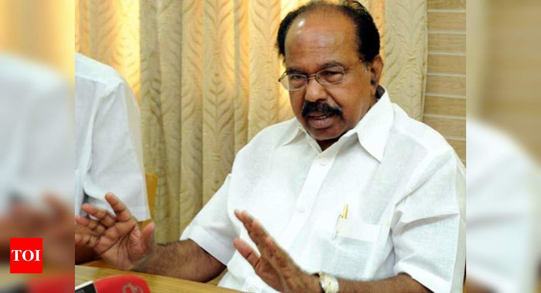 Centre shouldn't behave like 'big brother' with states: Moily | India News – Times of India