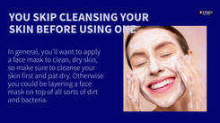 Face mask mistakes you could be making