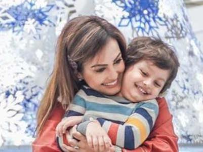 Nisha Rawal's happy pics with son Kavish
