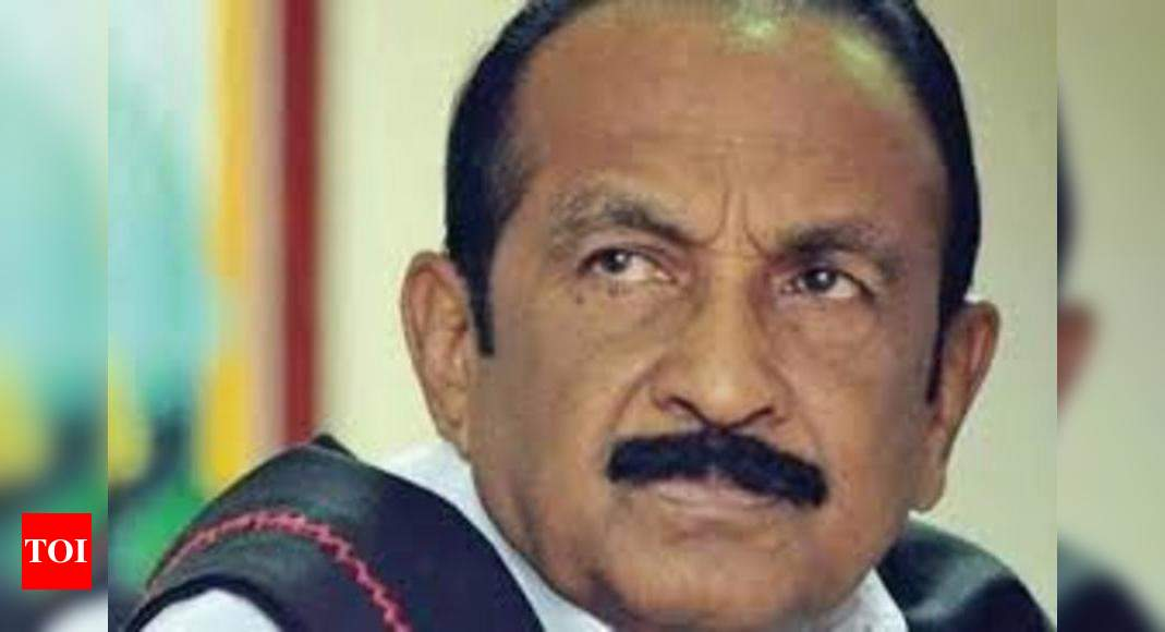 Cancellation of CBSE Class XII exam:  Vaiko sees 'conspiracy' to enforce National Education Policy – Times of India