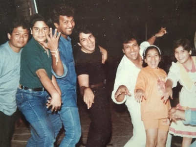 Krushna's old pic of partying with 'mama'