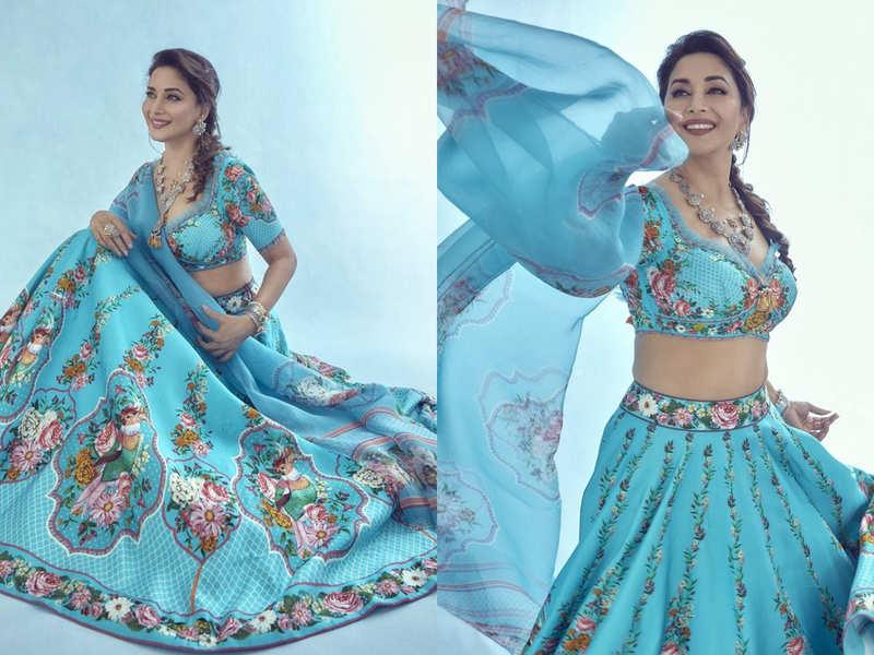 Madhuri Dixit is a breath of fresh air in this floral lehenga