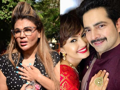 Rakhi reacts to Karan-Nisha's dispute