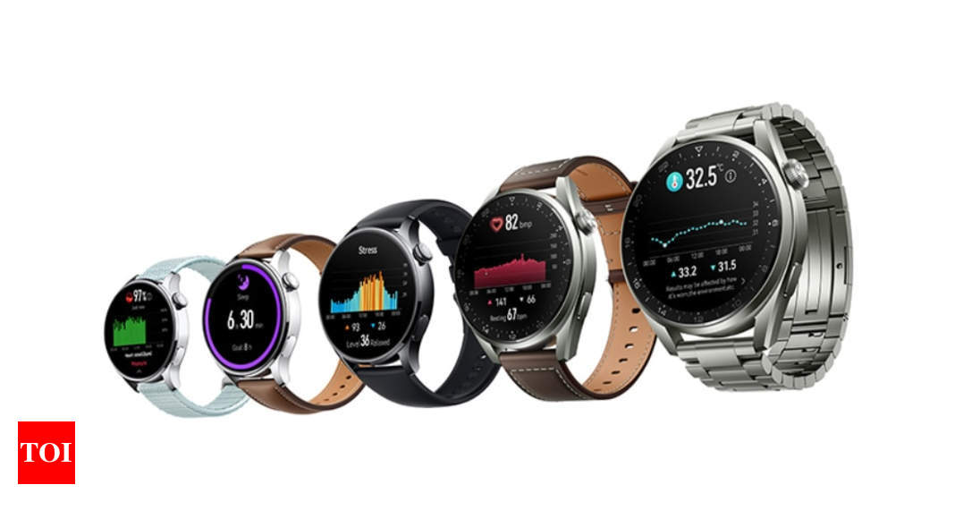Huawei Watch 3 and Huawei Watch 3 Pro running on HarmonyOS 2 announced – Times of India