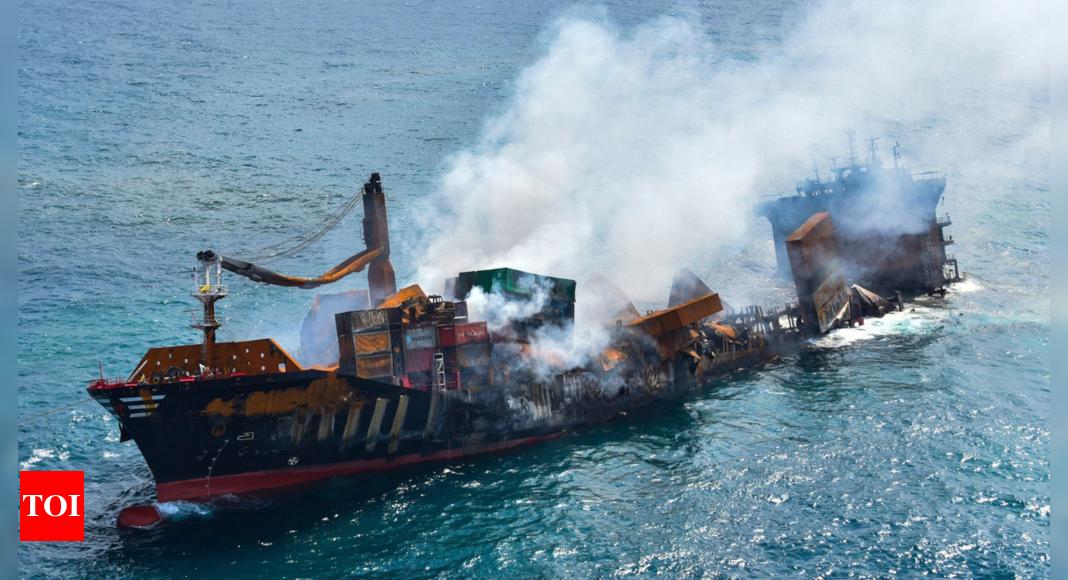 Environmental disaster feared when ship sinks off Sri Lanka