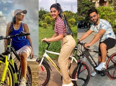 Check out which TV celebs love to pedal
