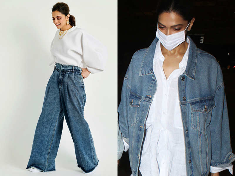 Oversized denims are a hit this season