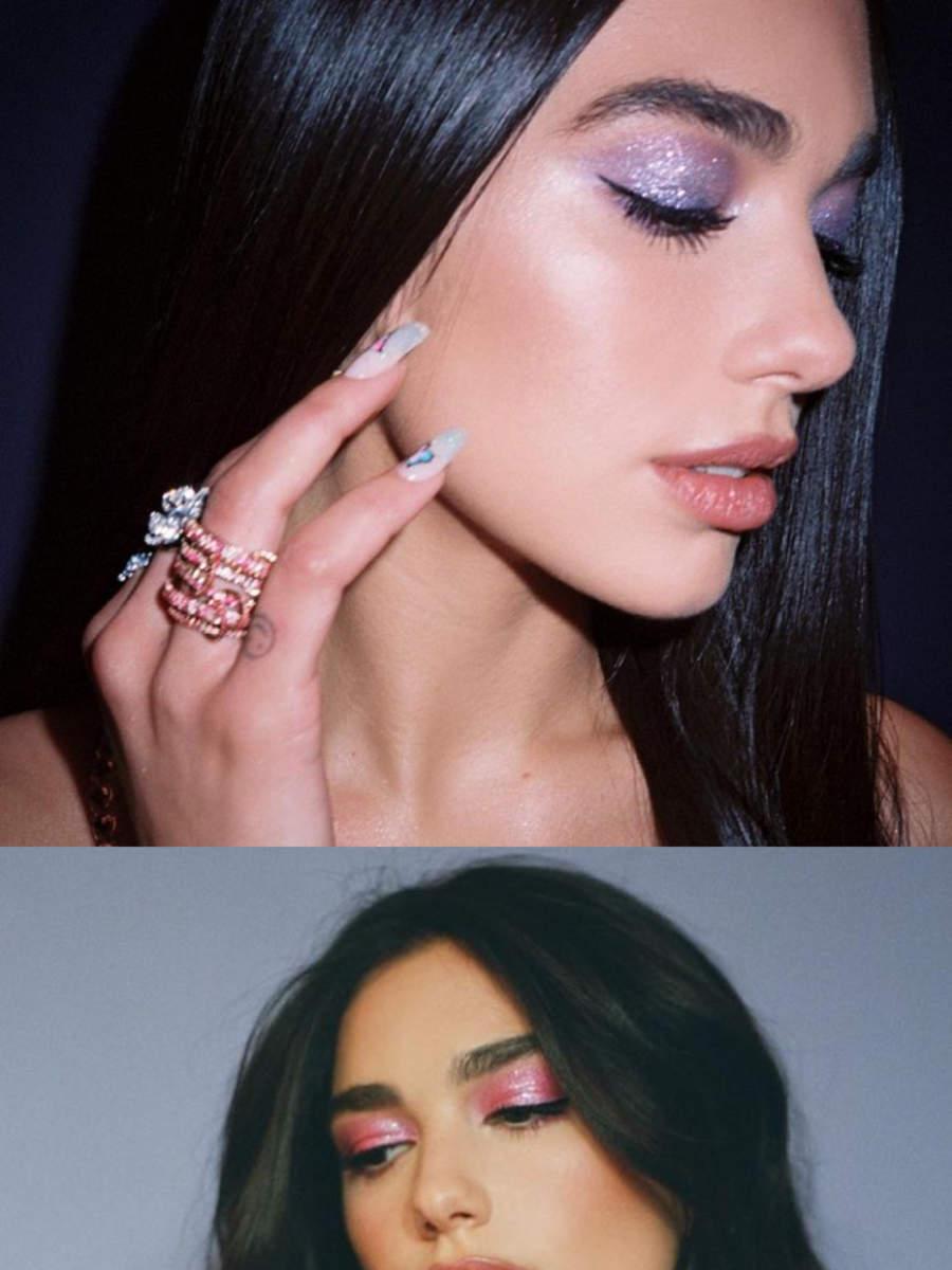 Bold makeup looks of Dua Lipa