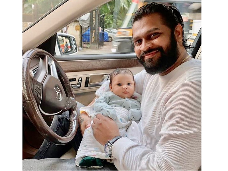Seema Singh shares adorable pics of her baby boy Shivay and husband Saurav Kumar