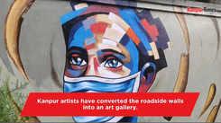 Artists convert roadside walls into an art gallery
