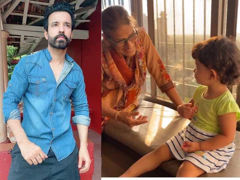 Aamir Ali shares video of his mom asking little Ayra where is her 'jaan'; watch her cute response
