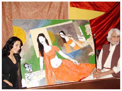 When MF Hussain live painted Amrita Rao