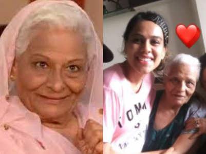 Nia Sharma mourns Tarla Joshi's demise