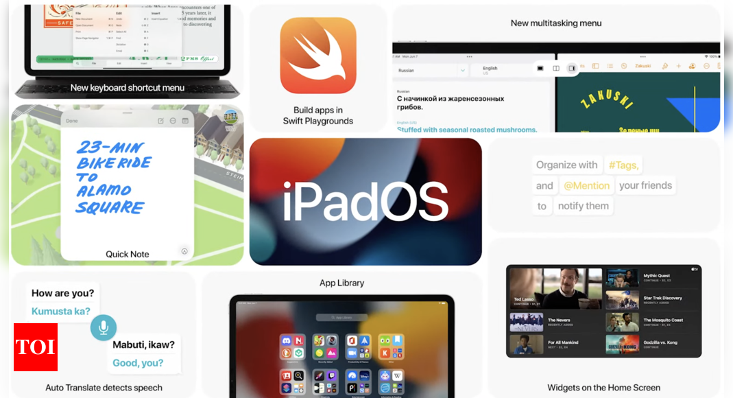 Apple announces iPad OS 15: New home screen design, App Library and more – Times of India