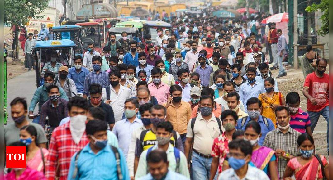 Below 1-lakh mark: India reports 86,498 new daily Covid-19 infections, lowest in 66 days | India News - Times of India
