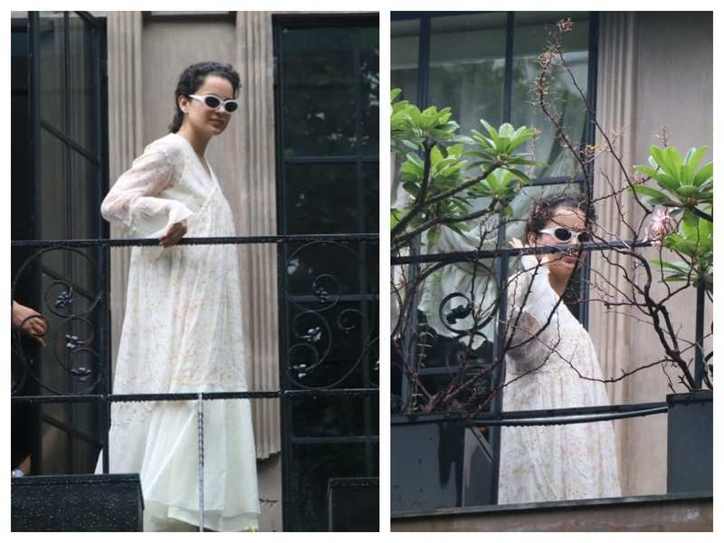 Photos: Kangana Ranaut is a vision in white as she gets snapped at her office