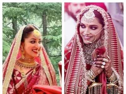 Celebs who wore unique bridal kalire
