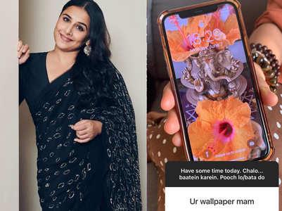 Vidya Balan reveals her mobile wallpaper