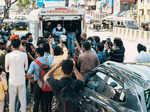 Sunny Leone and husband Daniel Weber distribute food to the needy