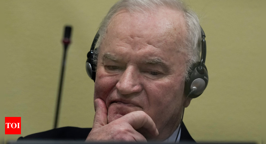 Bosnian Serb commander Ratko Mladic loses genocide appeal – Times of India