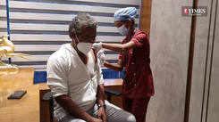 Nagraj Manjule take the COVID-19 vaccine