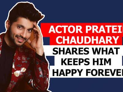 Prateik shares what keeps him happy