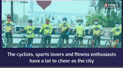 Lucknow cyclists give a thumbs up to UP's first cycling track