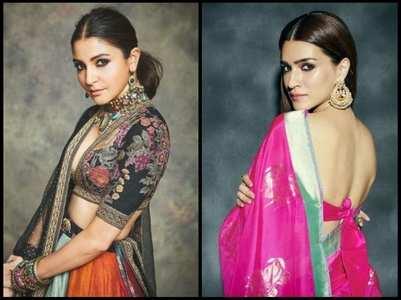 Divas acing ethnic look with a sleek hairdo
