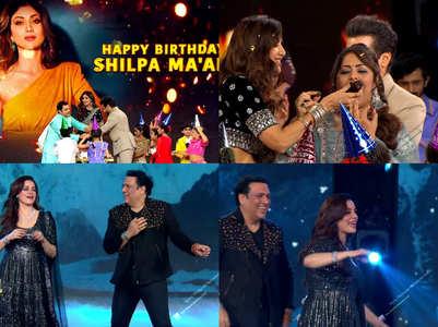 Shilpa celebrates birthday on Super Dancer