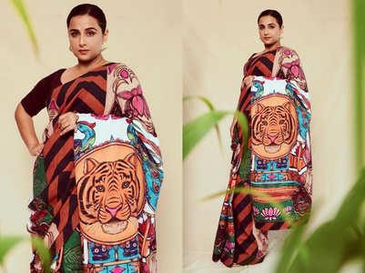 Vidya Balan's 'Sherni' sari is unmissable