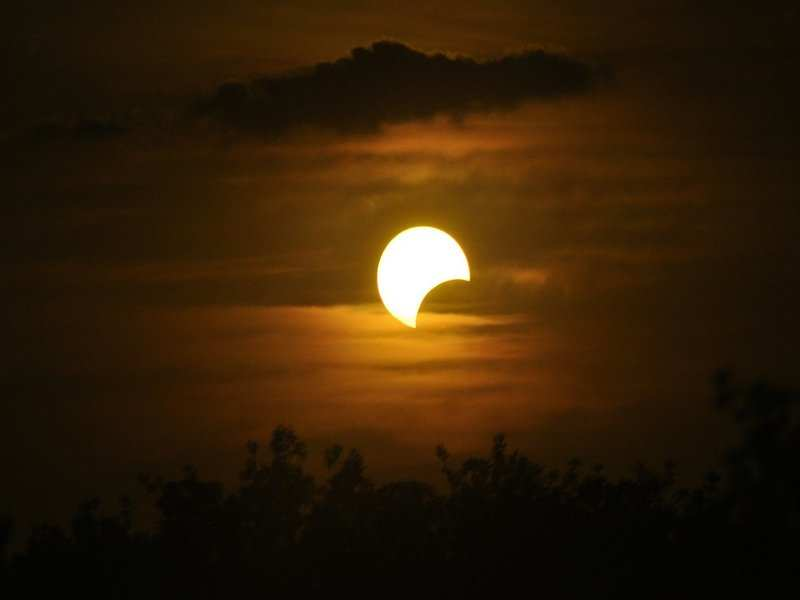Solar eclipse is a natural phenomenon, when moon covers the sun