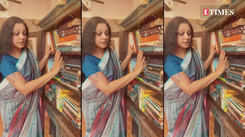 Shobana gives fans a tour of her personal library