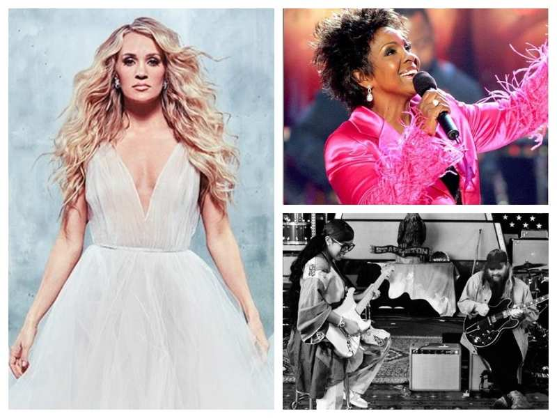 Pic: Carrie Underwood; Gladys Knight; H.E.R. Instagram