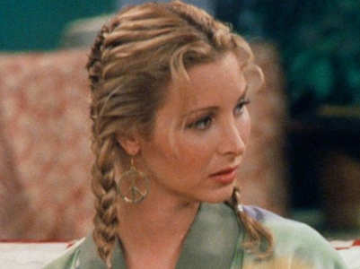 Phoebe Buffay's quirky hairstyles from Friends