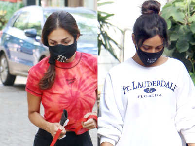 What celebs are wearing while walking dogs