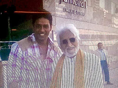 Anup Soni shares a pic with M.F. Husain