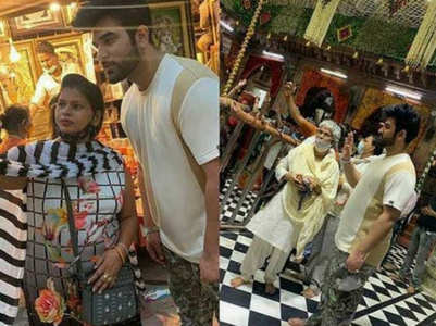 Paras Chhabra mobbed by fans at a temple