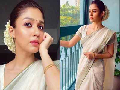 Nayanthara's kasavu sari is a must-have this summer