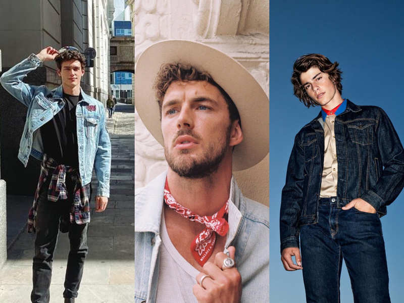 5 leading male models show how to style denim jackets