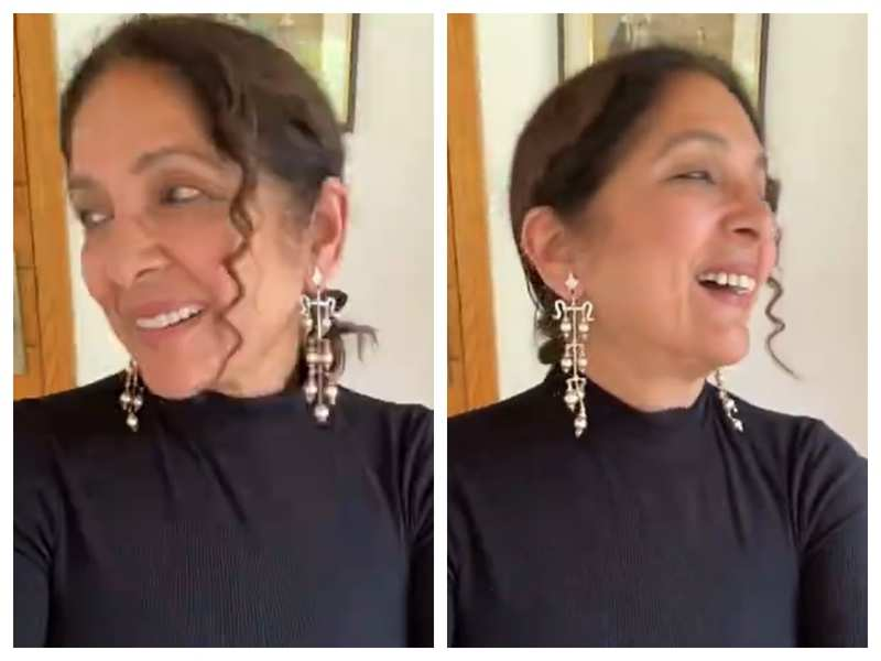 Watch: Fans and friends go gaga over Neena Gupta's stunning new earrings