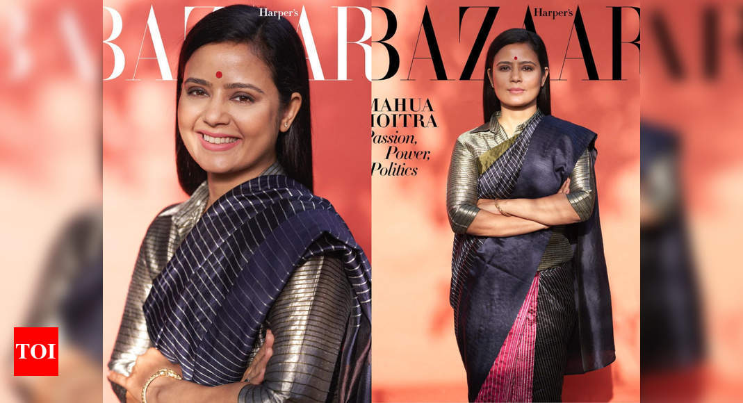 Mahua Moitra oozes elegance on mag cover